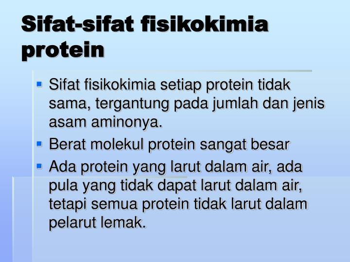 Sifat-sifat fisikokimia protein