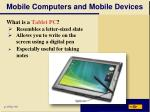 mobile computers and mobile devices1