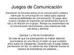 juegos de comunicaci n