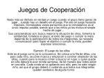 juegos de cooperaci n