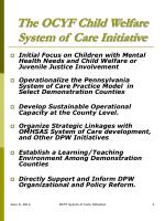 the ocyf child welfare system of care initiative