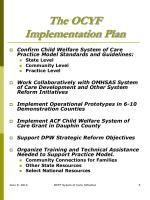 the ocyf implementation plan