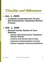 timeline and milestones1