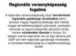 region lis versenyk pess g fogalma