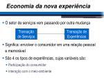 economia da nova experi ncia