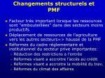changements structurels et pmf