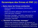 dynamique des firmes et pmf 1