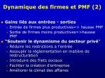 dynamique des firmes et pmf 2