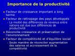 importance de la productivit