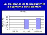 la croissance de la productivit a augment sensiblement