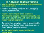 in a human rights framing
