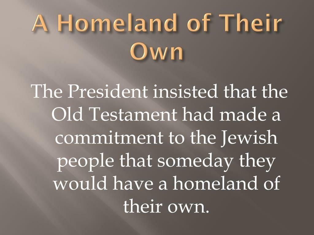 A Homeland of Their Own