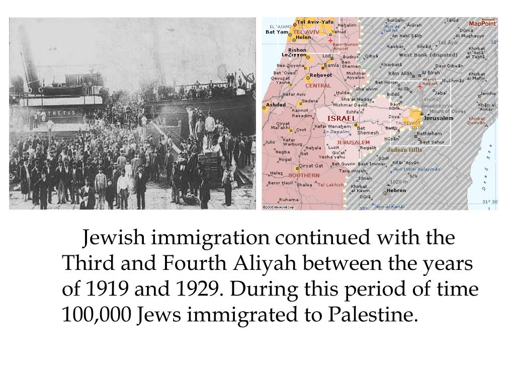 Jewish immigration continued with the Third and Fourth