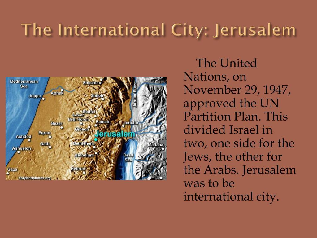 The International City: Jerusalem
