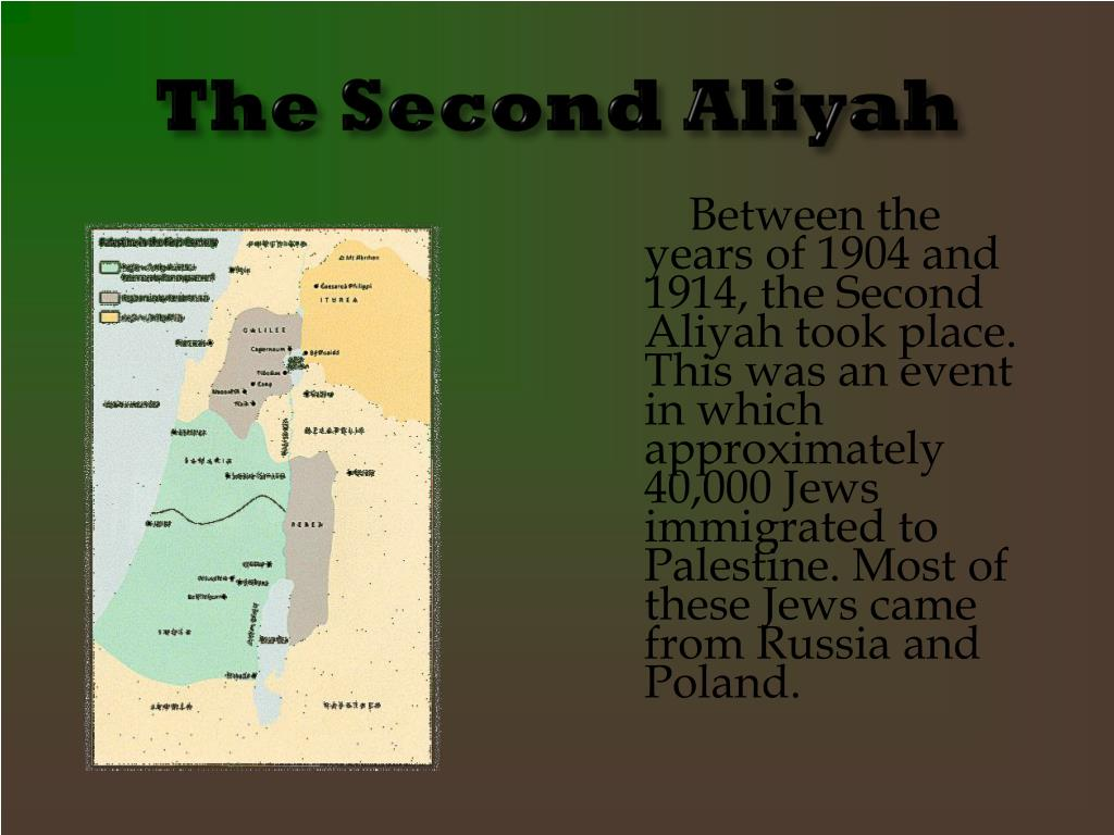The Second Aliyah