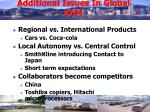 additional issues in global scm