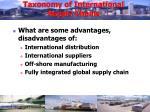 taxonomy of international supply chains