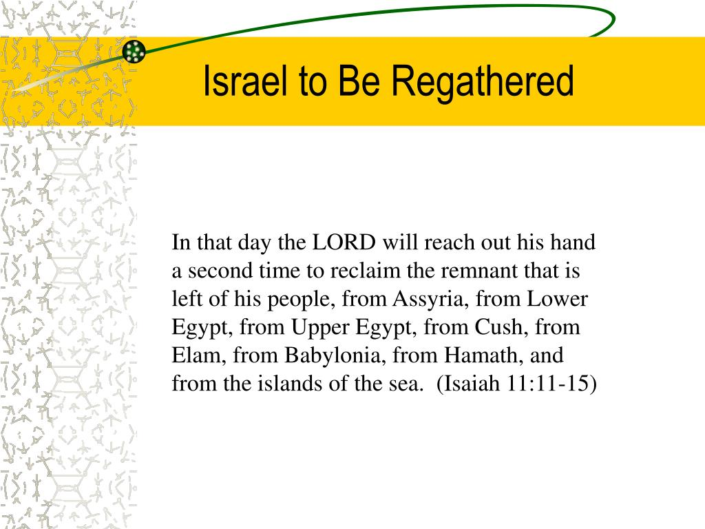 Israel to Be Regathered