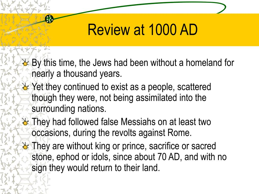 Review at 1000 AD