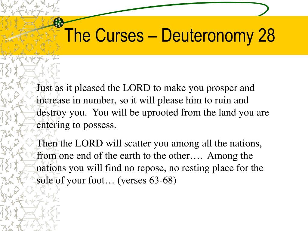 The Curses – Deuteronomy 28