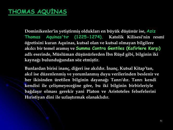 THOMAS AQUİNAS