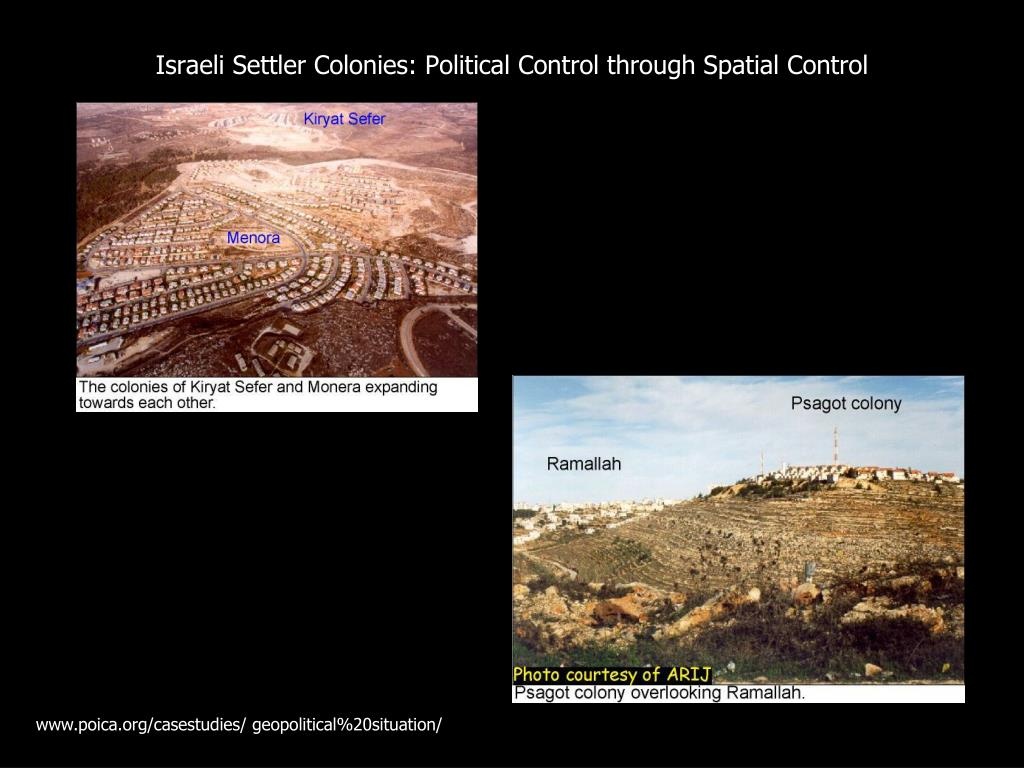 Israeli Settler Colonies: Political Control through Spatial Control