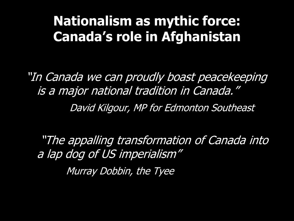 Nationalism as mythic force: