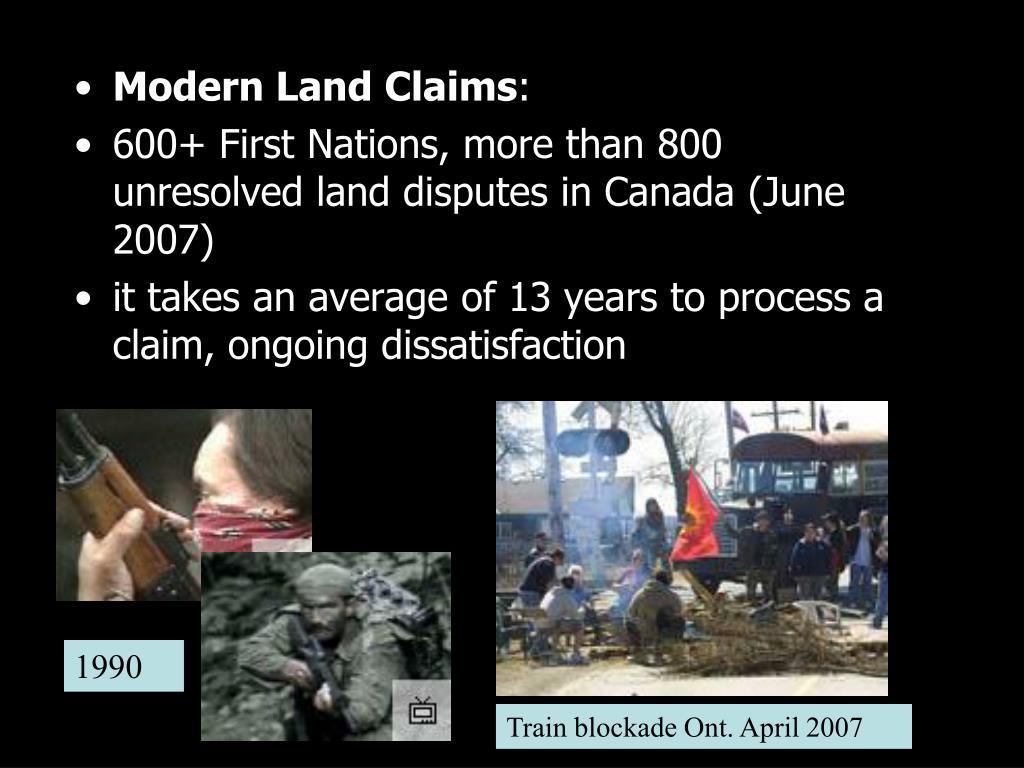 Modern Land Claims