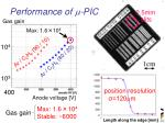 performance of m pic