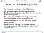 bv art 175 zusammensetzung und wahl
