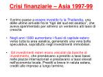crisi finanziarie asia 1997 99