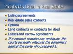 contracts used in real estate