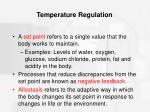 temperature regulation1