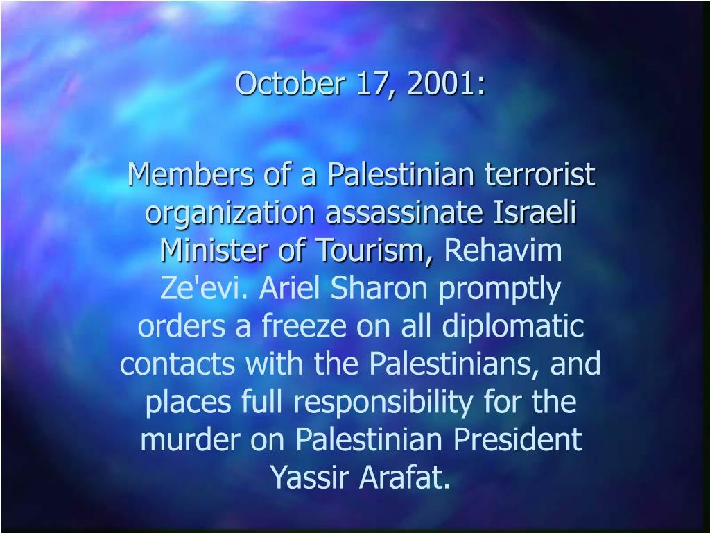 October 17, 2001: