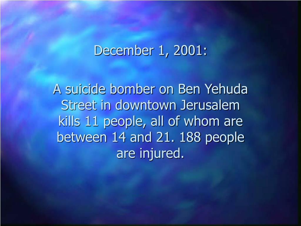 December 1, 2001: