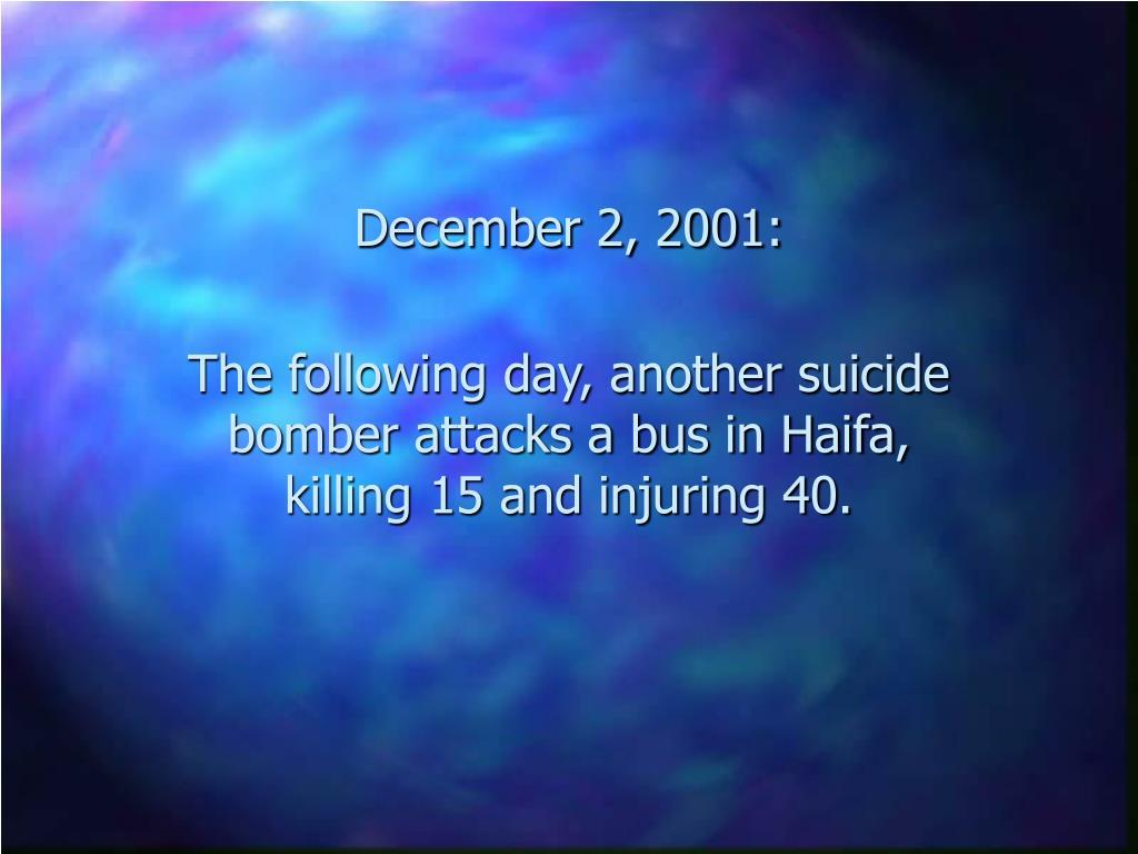 December 2, 2001: