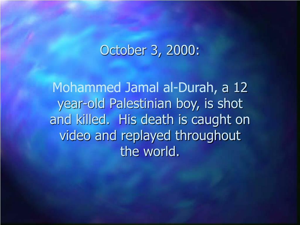 October 3, 2000: