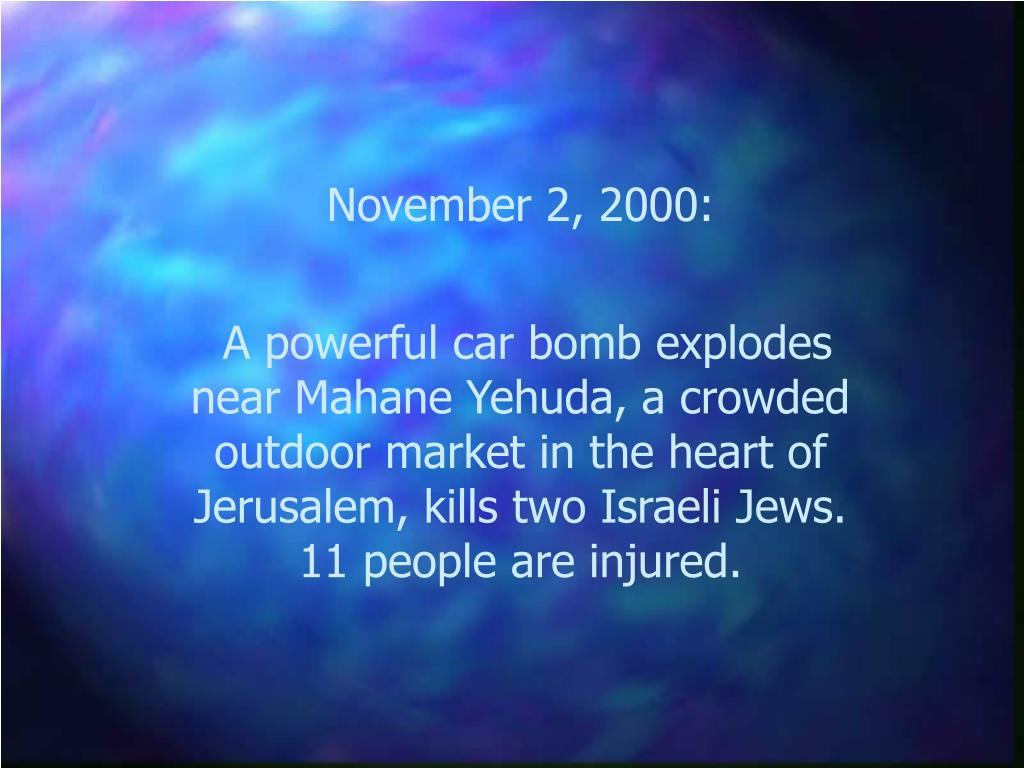 November 2, 2000: