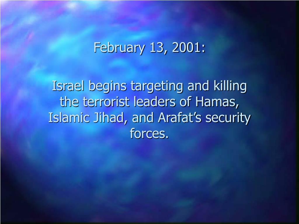 February 13, 2001: