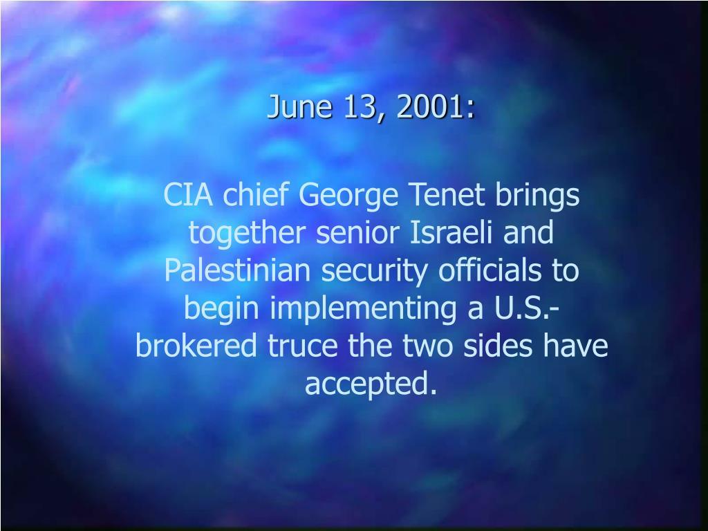 June 13, 2001: