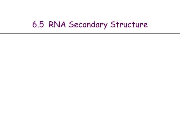 6 5 rna secondary structure n.