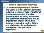 what is application profiling