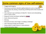 some common signs of low self esteem