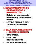 mecanismos de la administracion cientifica elementos del mecanismo1