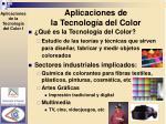 aplicaciones de la tecnolog a del color