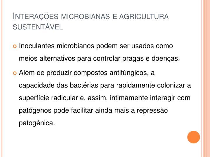 Interações microbianas e agricultura sustentável