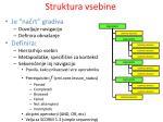 struktura vsebine