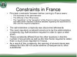 constraints in france