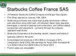 starbucks coffee france sas