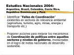 estudios nacionales 2004 argentina brasil colombia costa rica rep blica dominicana y per